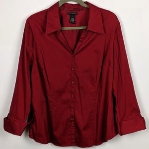 Lane Bryant V Neck Button Down Blouse Size 18/20